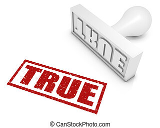 """True - """"TRUE"""" rubber stamp. Part of a rubber stamp series."""