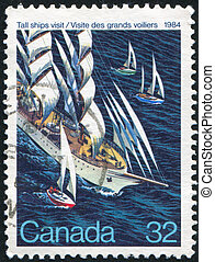 postage stamp - CANADA - CIRCA 1984: stamp printed by...