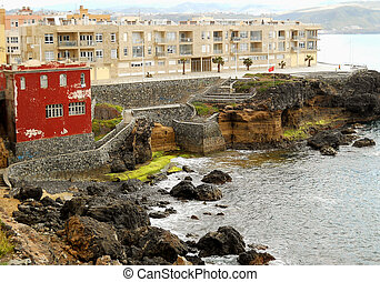 Ocean coast view in Las Palmas - Place near Las Canteras...