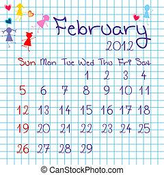 カレンダー, 2 月, 2012