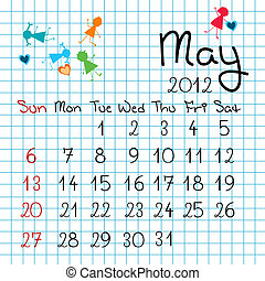 Calendar for May 2012