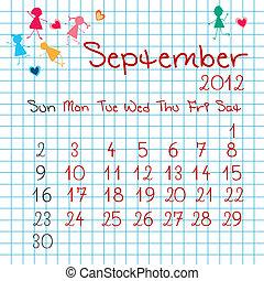 Calendar for September 2012