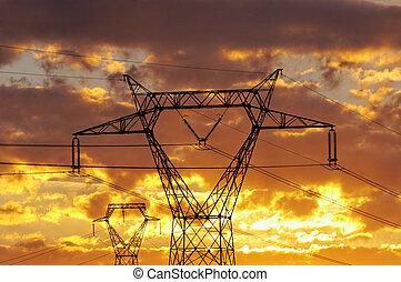 high voltage - a high voltage line