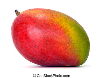 mango over white background