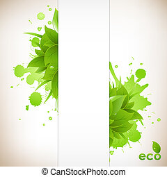 Design Eco Friendly, Isolated On White Background, Vector...