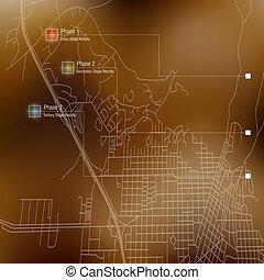 地圖, 地形學, 計劃, 路, 階段
