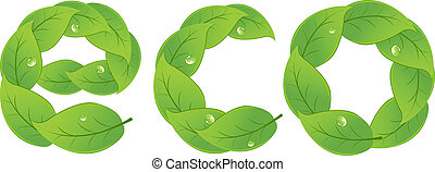 Eco Design Element, Isolated On White Background, Vector...