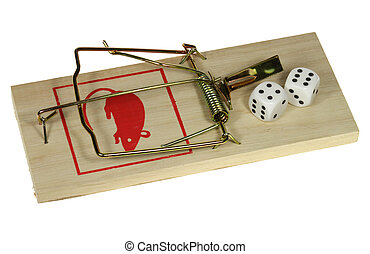 rat trap - Cubes are attractive on a perilous rat trap.