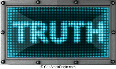 truth  announcement on the LED display