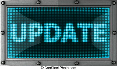 update  announcement on the LED display