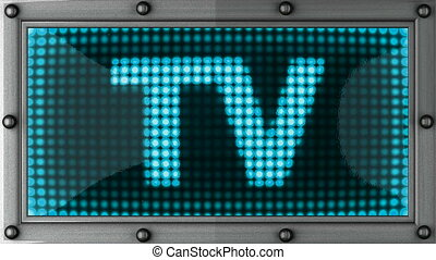 tv  announcement on the LED display