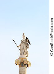 déesse, connaissance,  statue,  Athéna