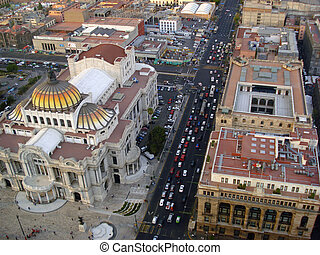 Mexico City - Mexico City skyline seen from the top of Torre...
