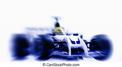 Formula One racing car, front view - This photograph...