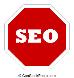 SEO warning sign
