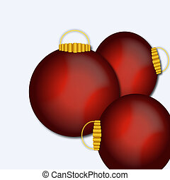 christmas ornaments - illustration