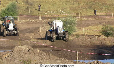 Racing the tractor