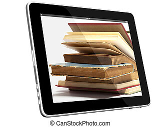 Loot of Books on iPad 3D concept
