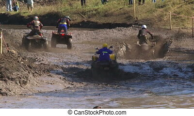 Sports race - Race on motorcycles on a terrible dirt and...