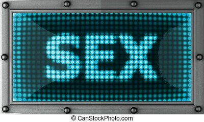 sex  announcement on the LED display