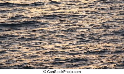 Ocean waves - sunset ocean waves