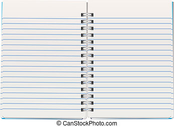 vector illustration of opened notepad
