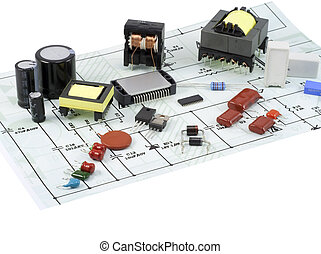 Electronic components and the electric scheme - Electronic...