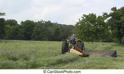 The Hay Being Cut - This is our first cutting. Next I will...