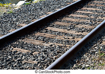 Train tracks - Close up of train tracks
