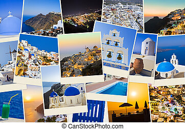 Stack of Santorini photos - Stack of Santorini shots -...