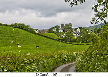 Grayrigg Village Scenic - Scenic view of Grayrigg village in...