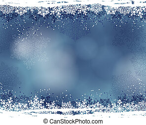 winter background - Winter background with snowflakes