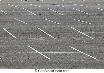 Carpark - Empty places in a parking lot