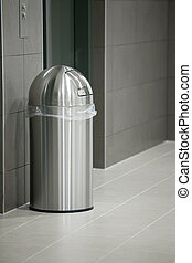 Dustbin in a modern office building