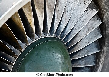 Engine - Detail of an old airplane jet engine