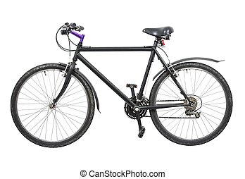 Bicycle - Black bicycle isolated on white background