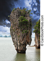 Storm approaching James Bond Island, Thailand