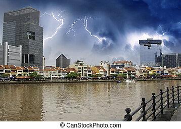 puerto edificios su singapur