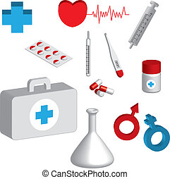 3d medical icons