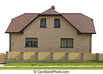 Isolated one-story house - Isolated small one-story house...