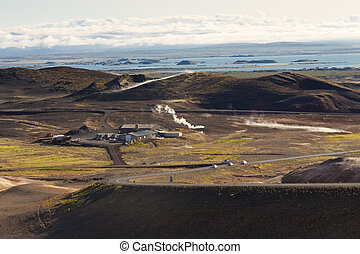 Myvatn area landscape - Iceland.