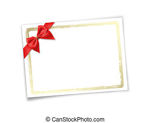 Card for invitation or congratulation to holiday. White...