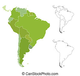 Map of South America - Highly detailed map of the South...