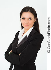 beautiful woman in a business suit - beautiful woman in a...