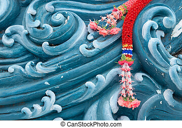 buddhism religious pattern - detail of buddhist religious...