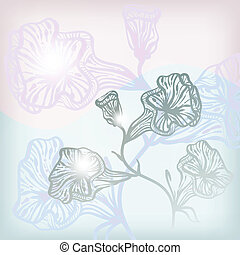 vector  background with abstract flowers