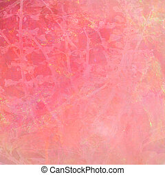 Watercolor Pink Abstract Textured Background with Text Space...