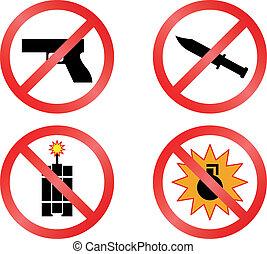 prohibir, señales, vector, formato