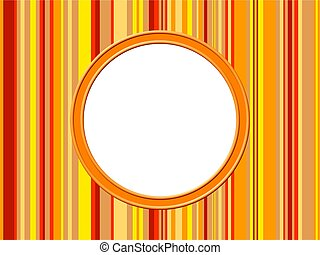 Orange Stripes Border - Artistic abstract modern style photo...