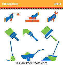 Set of icons construction a vector.